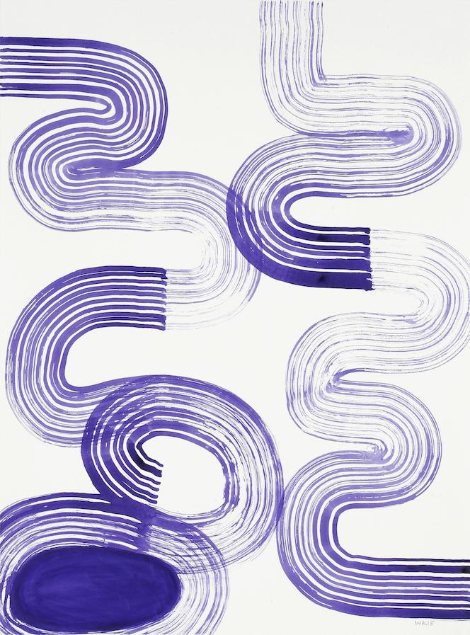 028, Gouache et Aquarelle sur papier, 2015, 76,5 x 57 cm