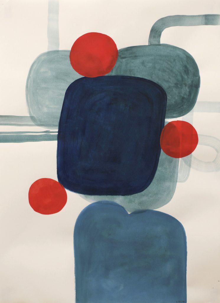 0701, Gouache et Aquarelle sur papier, 2014, 65 x 44,5 cm