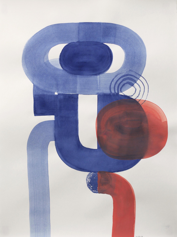 0708, Gouache et Aquarelle sur papier, 2014,66 x 49 cm