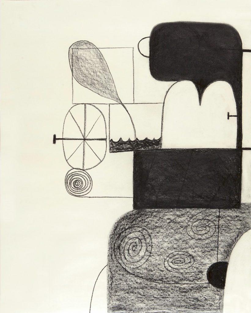 #12:002 Untitled, 2012, fusain sur papier, 108 x 86 cm