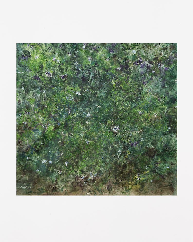 Jasmin, 2017, huile sur toile et Tempera, 113 x 118 cm