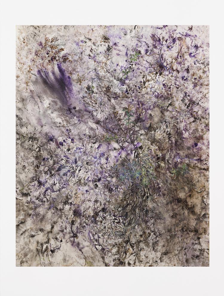 Terre, Huile sur toile et Tempera, 170 x 135cm, 2005-2017