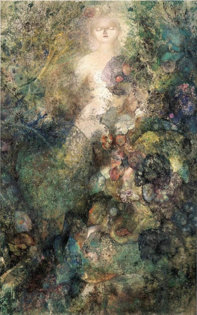 Asphodèle, 1965, huile sur toile, 100 x 65 cm,
