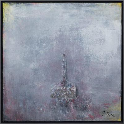 Brush #1, 2016, huile sur toile, 100 x 100 cm