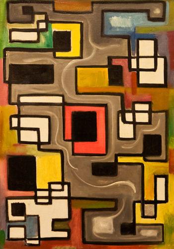 Closon, du gris à la couleur, 1945, huile sur toile, 91 x 68 cm