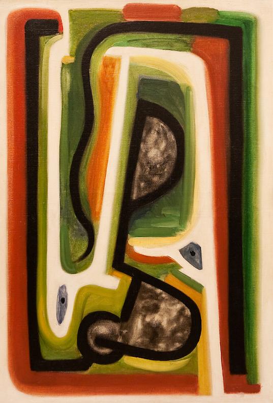 Henri-Jean Closon, Hommage à Delacroix, huile sur toile, 93,5 x 70 cm