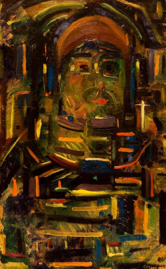 Henri-jean Closon, Sans titre, 1926, huile sur panneau, 50 x 30,7 cm