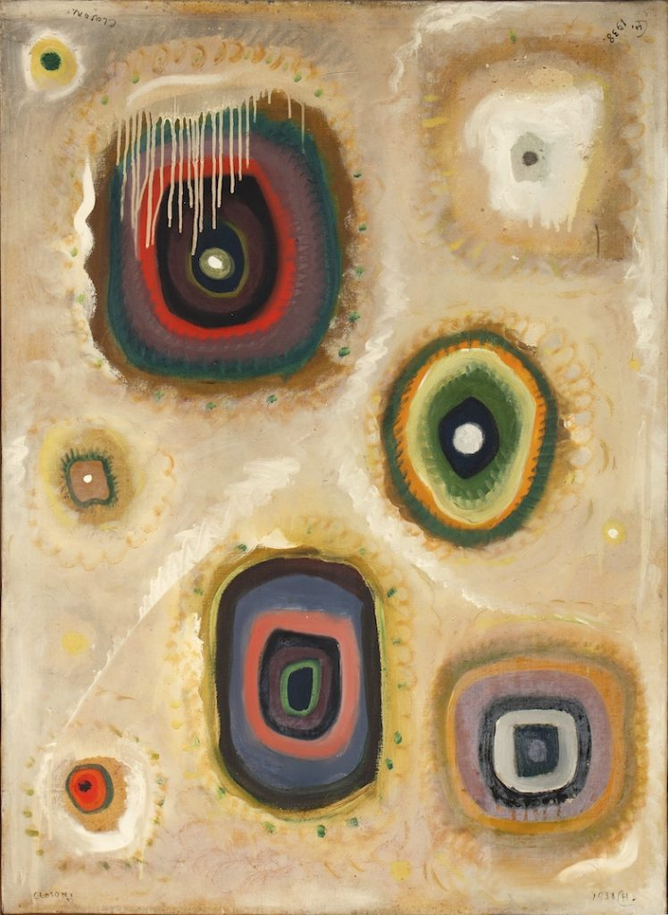 Henri-Jean Closon, Une entorse au rythme,1938, huile sur toile, 100 x 74 cm