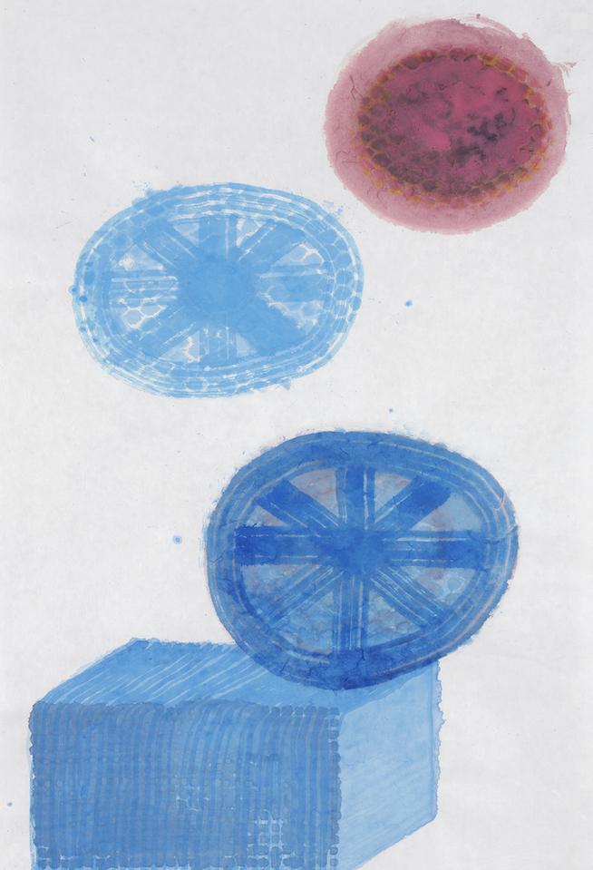 D.2015.005, gouache et aquarelle sur papier, 94 x 64 cm