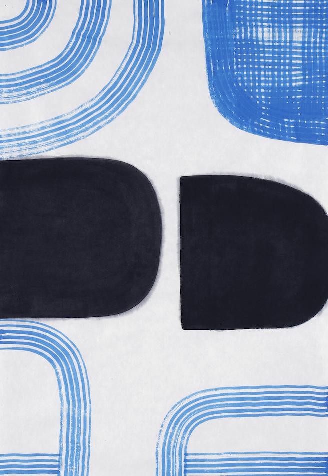 D.2015.009, gouache et aquarelle sur papier, 94 x 64 cm
