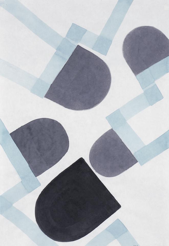 D.2015.010, gouache et aquarelle sur papier, 94 x 64 cm
