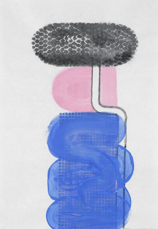 D.2015.011, gouache et aquarelle sur papier, 94 x 64 cm