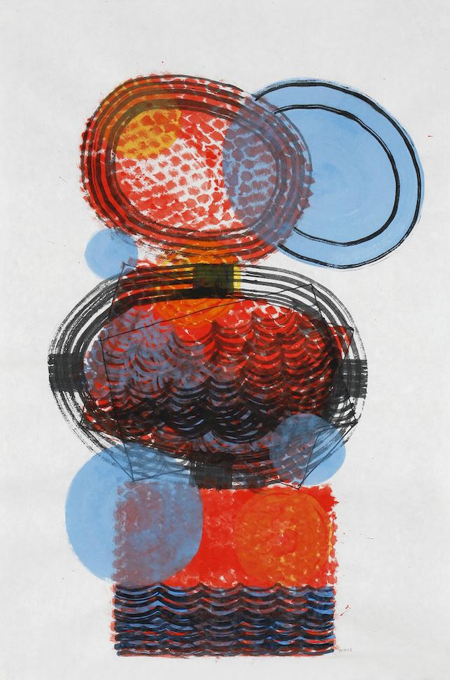 D.2015.012, gouache et aquarelle sur papier, 94 x 64 cm