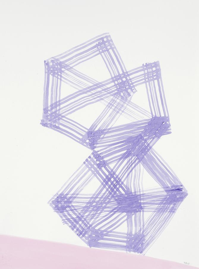 D.2015.019, gouache et aquarelle sur papier, 76 x 56 cm