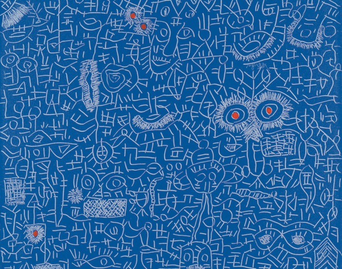 Dong Fang Tuquin - DayDream My chinese Blue - Huile sur toile - 80 x 100 cm - 2007