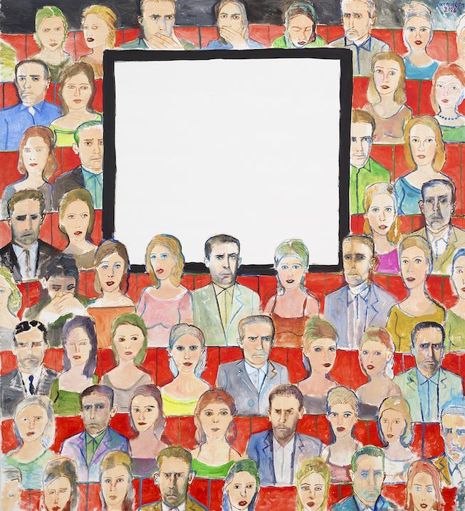 Cinéma, 2016, acrylique sur toile, 200 x 180 cm