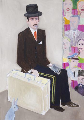 Edouard SACAILLAN, l'acteur et les spectateurs, 144x96cm,acrylique sur toile,2015