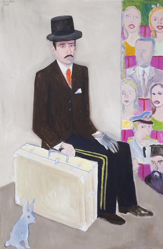 L'acteur et les spectateurs, 2015, acrylique sur toile, 144 x 96 cm