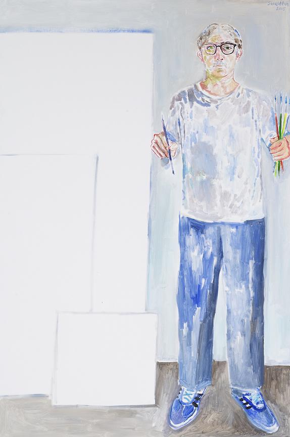 Les formats du peintre, 2015, acrylique sur toile, 146 x 97 cm