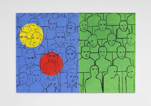 Edouard SACAILLAN-spectral-97x146cm-acrylisque sur toile-2015