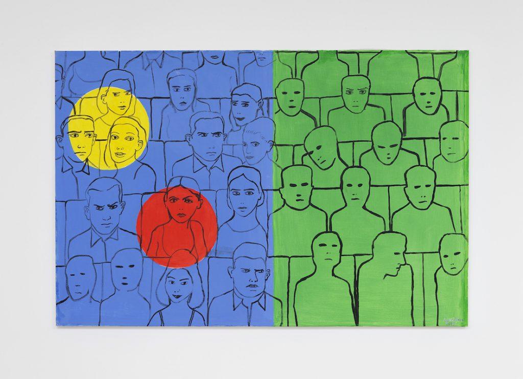 Spectral, 2015, acrylique sur toile, 97 x 146 cm