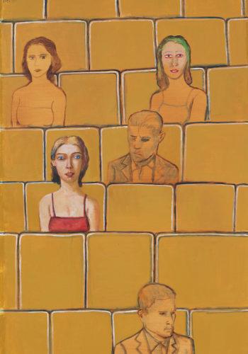 Edouars SACAILLAN-entre autres-146x97cm-acrylique sur toile-HD