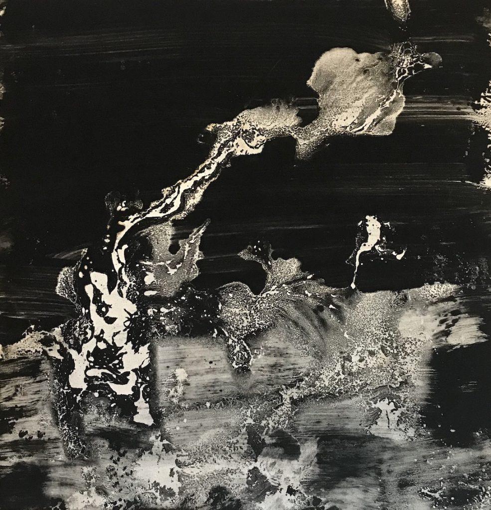 Flowers 111, huile sur papier, 76 x 57 cm, 2017