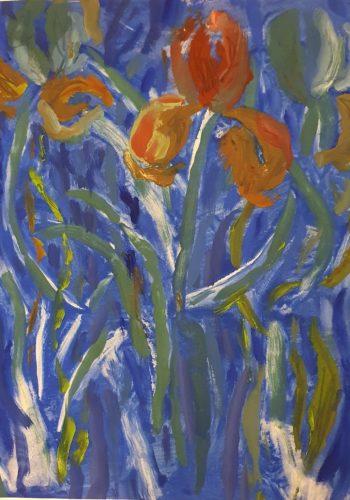 Flowers 63 - 2017 - 66 x 54 cm