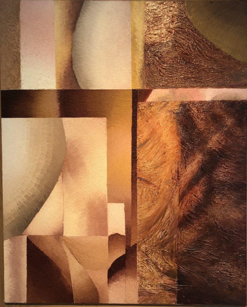 Coucher de Soleil, 2002 - 2017, huile sur toile, 176 x 94 cm