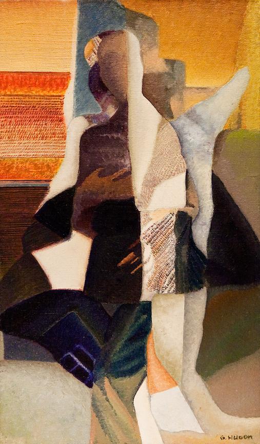 En Visite, 2010, Huile sur toile, 47 x 27 cm