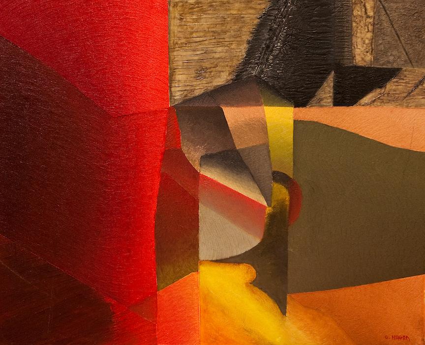 L'Aube sur Villabé, 2003, huile sur toile, 65 x 81 cm