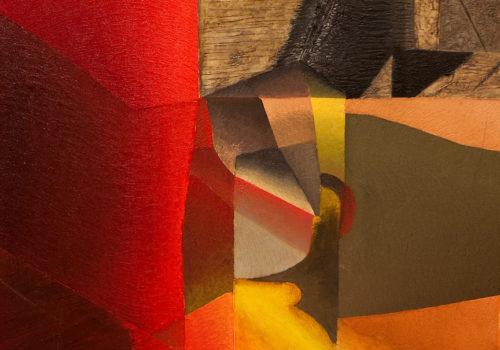 Genevieve Hugon - L'Aube sur Villabé - 2003 - huile sur toile - 65 x 81 cm