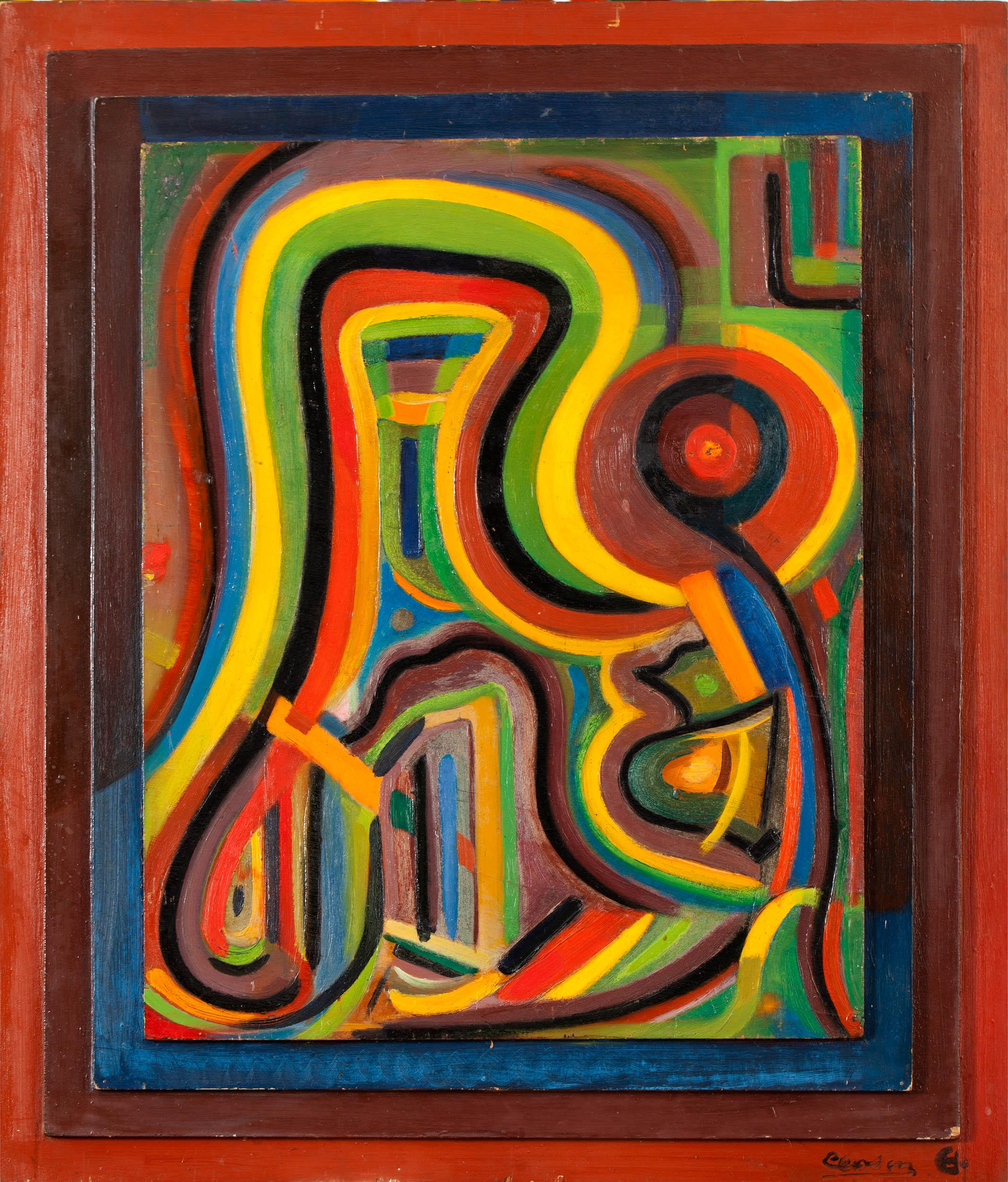 Maternité, 1938 – 1943 – 1945, huile sur bois, 87 x 71 cm