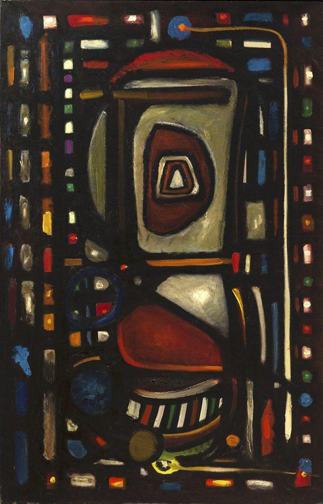 Henri-Jean Closon, L'indivisibilité créatrice, huile sur toile, 100 x 65 cm