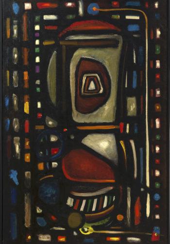 Henri-Jean Closon - L'indivisibilité créatrice - Huile sur toile - 100 x 65 cm