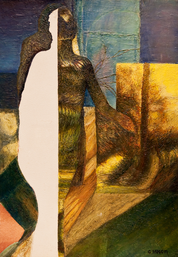 Le couple de Villabé, huile sur toile, 2010, 81 x 59 cm