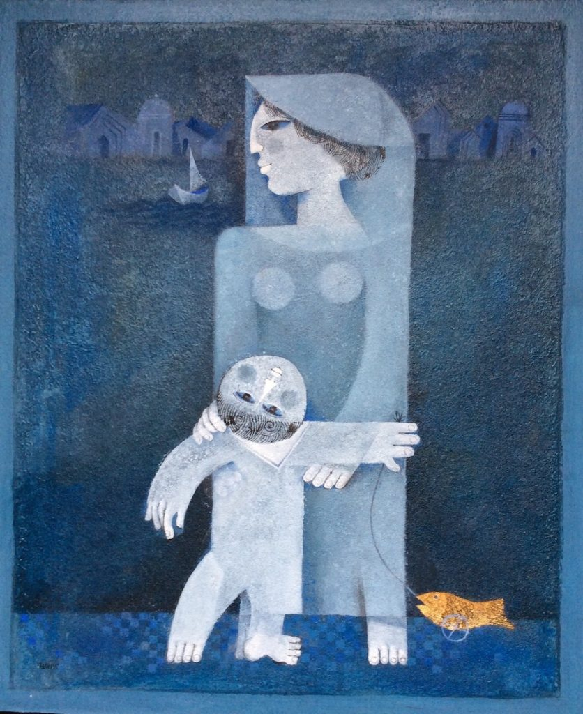 Le petit matelot, acrylique sur panneau, 65 x54 cm