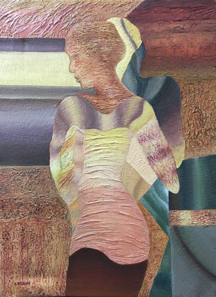 L'invité, 1999, huile sur toile, 81 x 59 cm