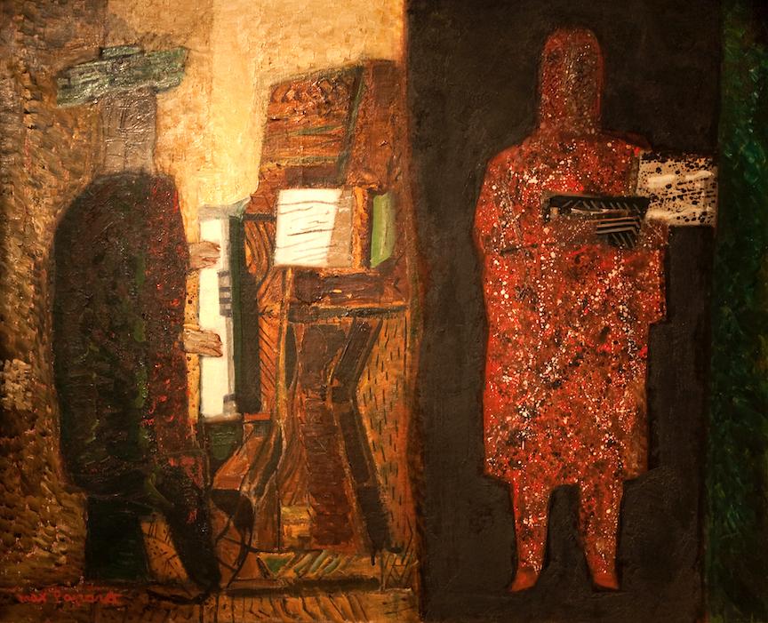 Piano vert et brun, 1963, huile sur toile, 65 x 81 cm