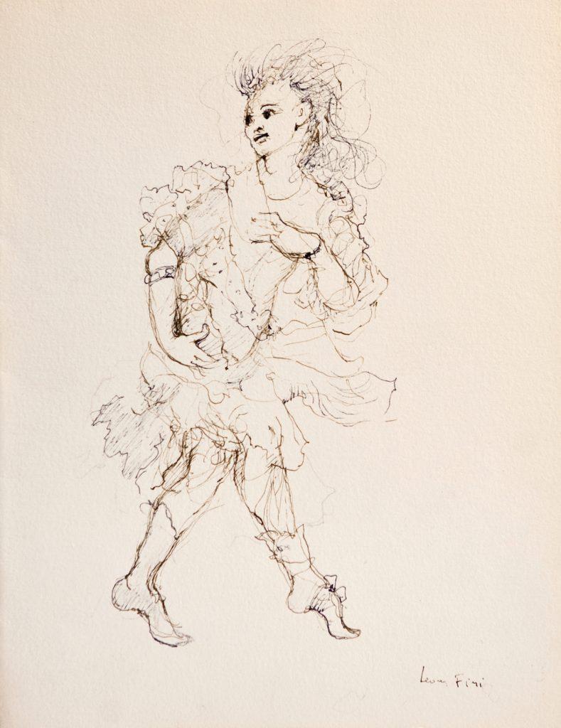 N°387 Entre le Oui et le Non ( 1 personnage ), 1993, encre de chine sur papier, 32 x 25 cm