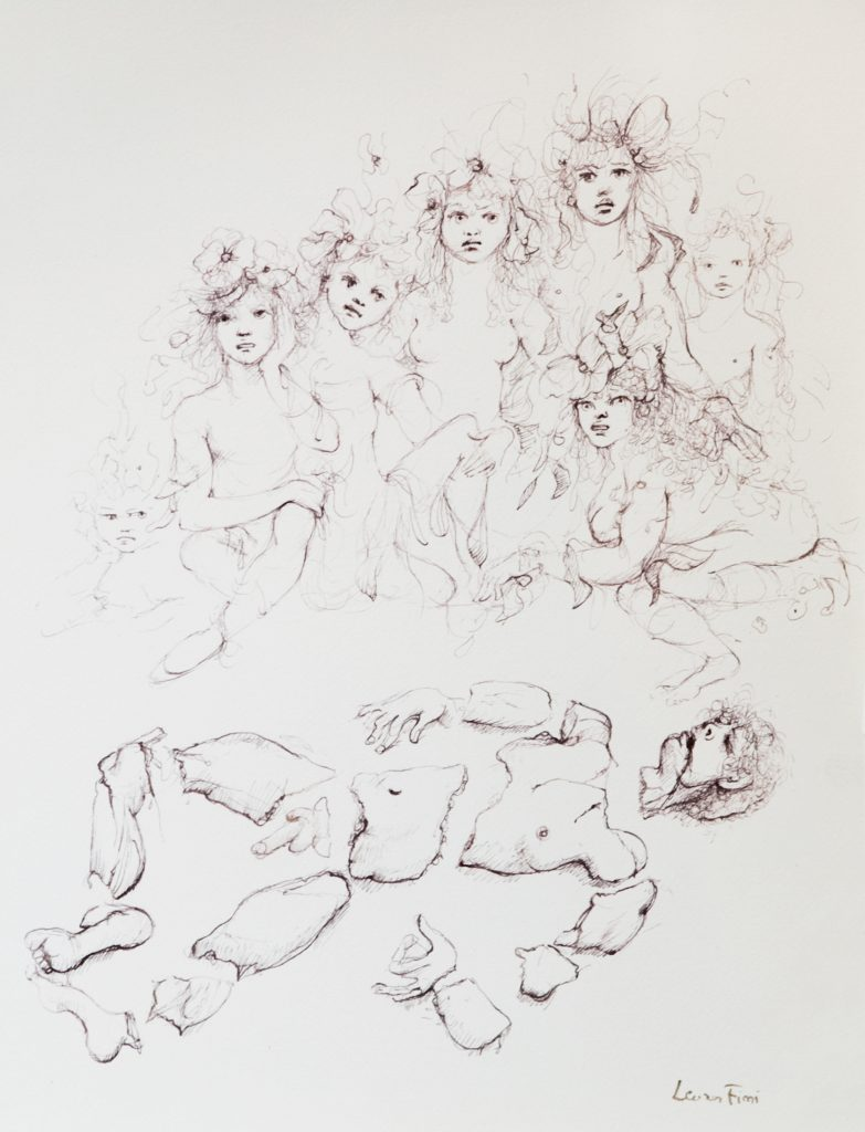 N°467 Orpheus,1982, encre de chine sur papier, 40x31cm