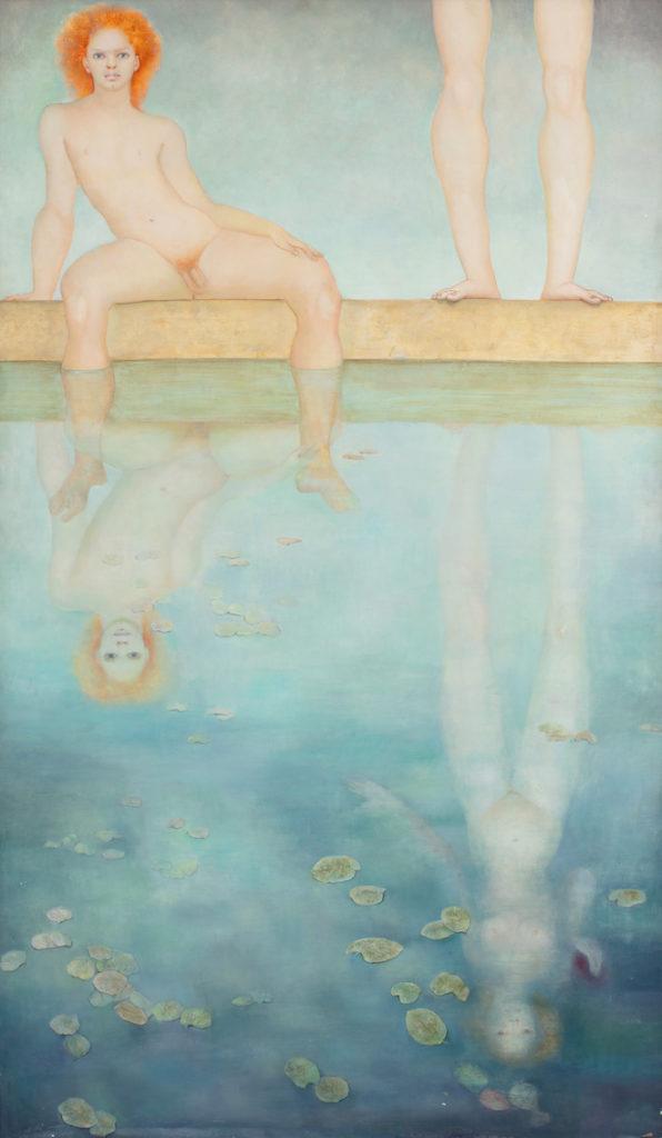 Narcisse incomparable, 1971, huile sur toile, 170 x 100 cm,