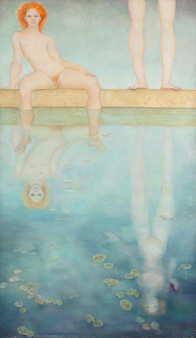 Narcisse incomparable, huile sur toile, 170 x 99,7 cm, 1971