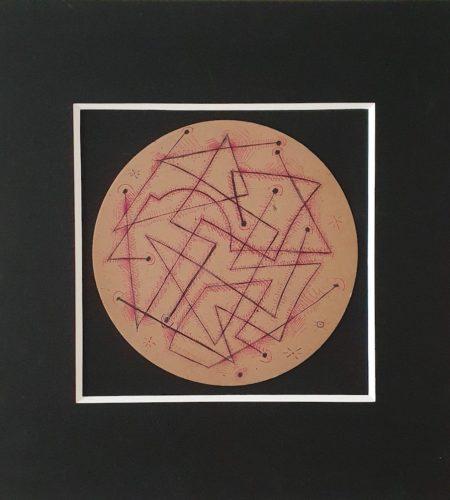 P214 à Voiron, stylo sur carton circulaire, 1935, diamètre 25 cm