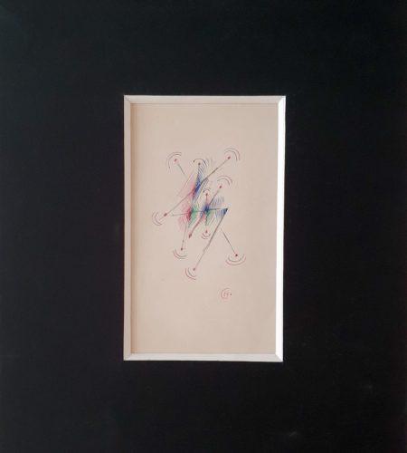PG8 cadence et rythme, stylo de couleur sur papier, 1935, 21 x 13,4 cm