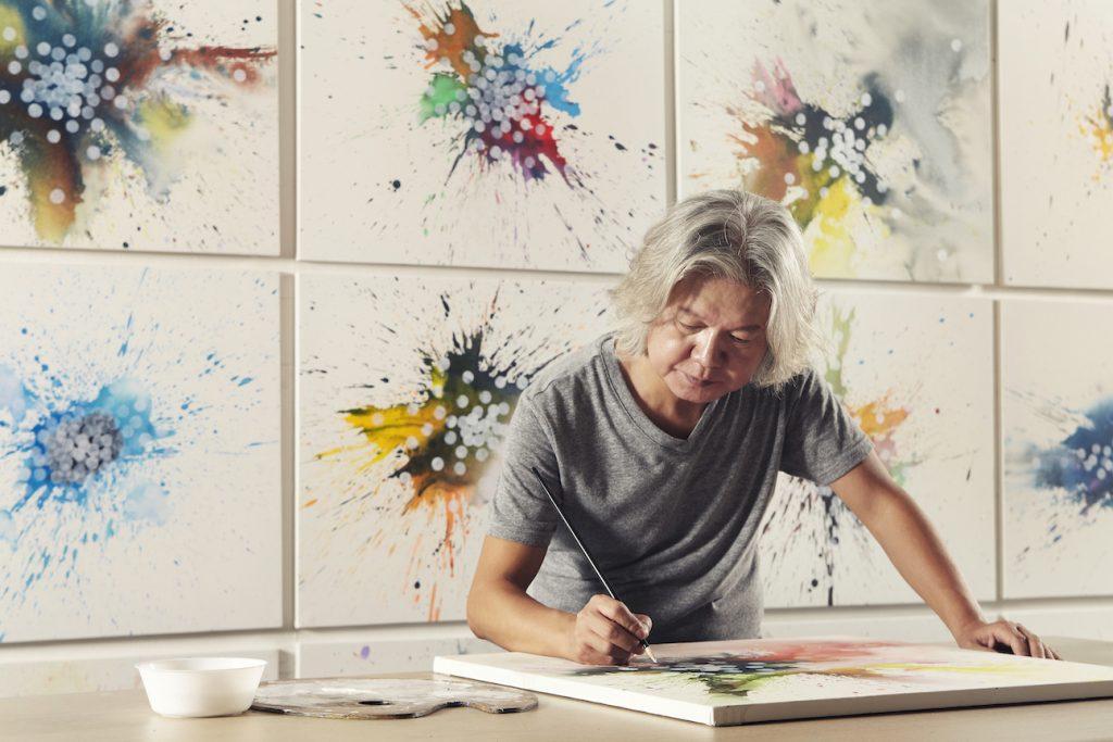 Park Dong-Soo dans son atelier