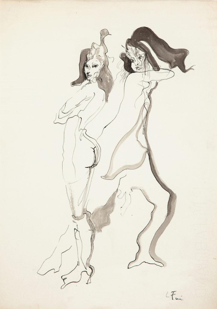 Liaisons dangereuses, 1955, encre et lavis sur papier, 37 x 26,5 cm,
