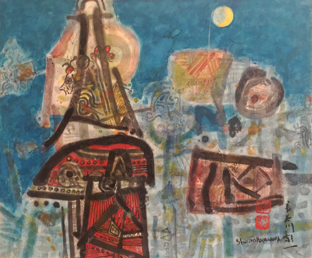 Art premier, huile sur toile, 46 x 55 cm, 2016