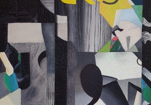 Saint-Mandé, Geneviève Hugon, 104 x 102 cm, huile sur toile, 2020