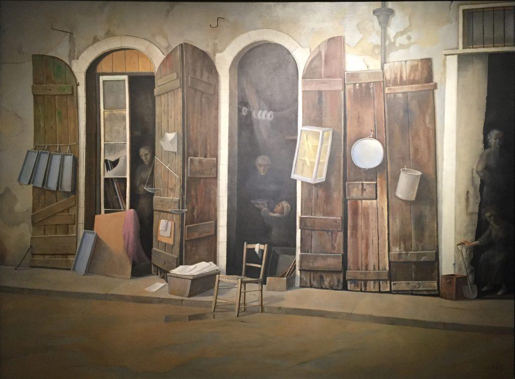 Stanislao lepris - Brocante, 1977, huile sur toile, 97 x 132 cm